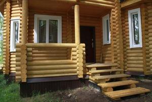 Деревянное крыльцо дома фото своими руками