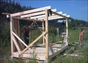 как самому построить сарай на даче инструкция - фото 7
