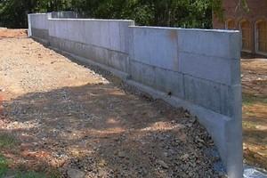 Как сделать подпорную стенку из бетона 75